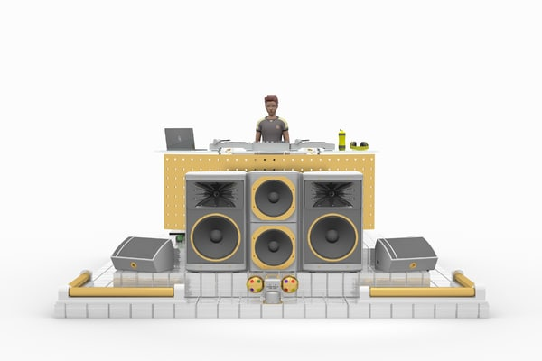 dj stage set lhsp 3d max