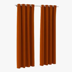 curtain 3 orange max