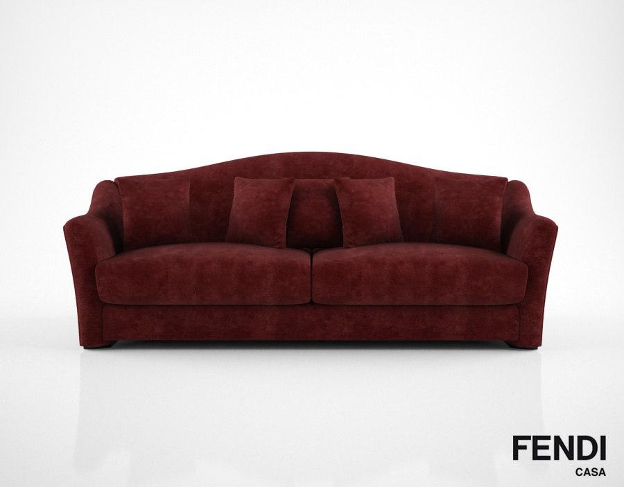 fendi casa faubourg sofa 3d model