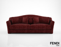 fendi casa faubourg sofa 3d model