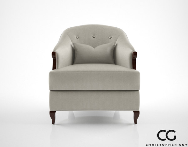 3d christopher guy morzine armchair model