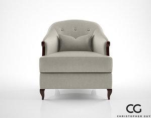 3d christopher guy morzine armchair model