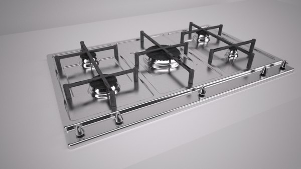 kitchen gas stove x 3d model