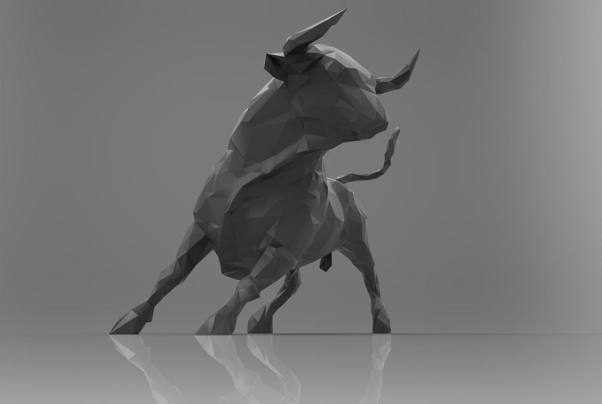 3d model bull games