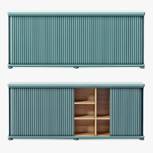 3d model large tambour cabinet soane