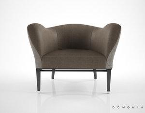 3d donghia carmen club chair
