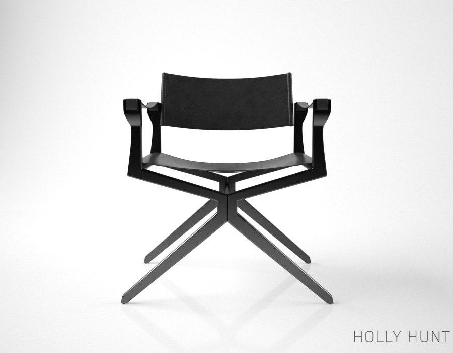 holly hunt haka director chair 3d max