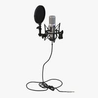 3d studio microphone