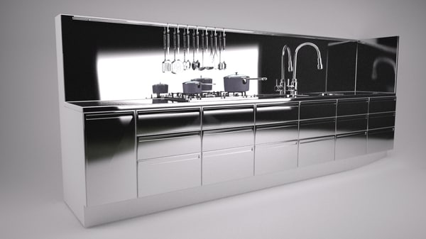 3d kitchen unit