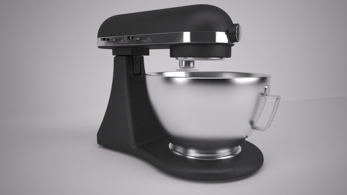 3d rigged wired food mixer