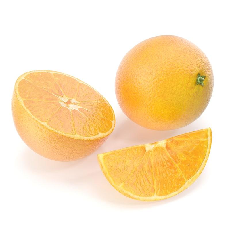 orange modeled 3d max