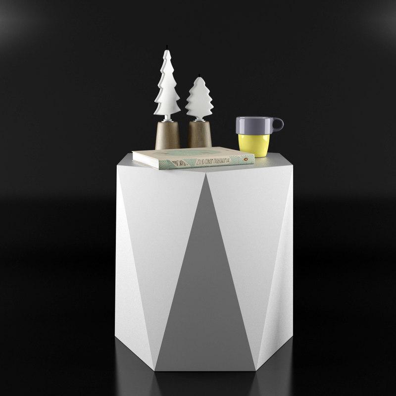 3d ma cristal coffee table