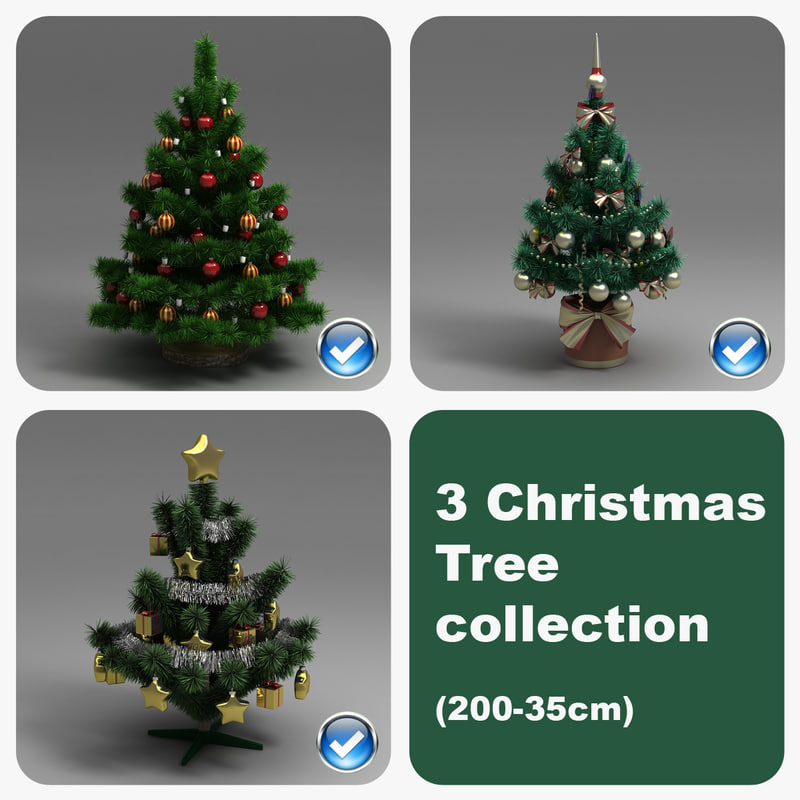 3ds max 3 christmas tree