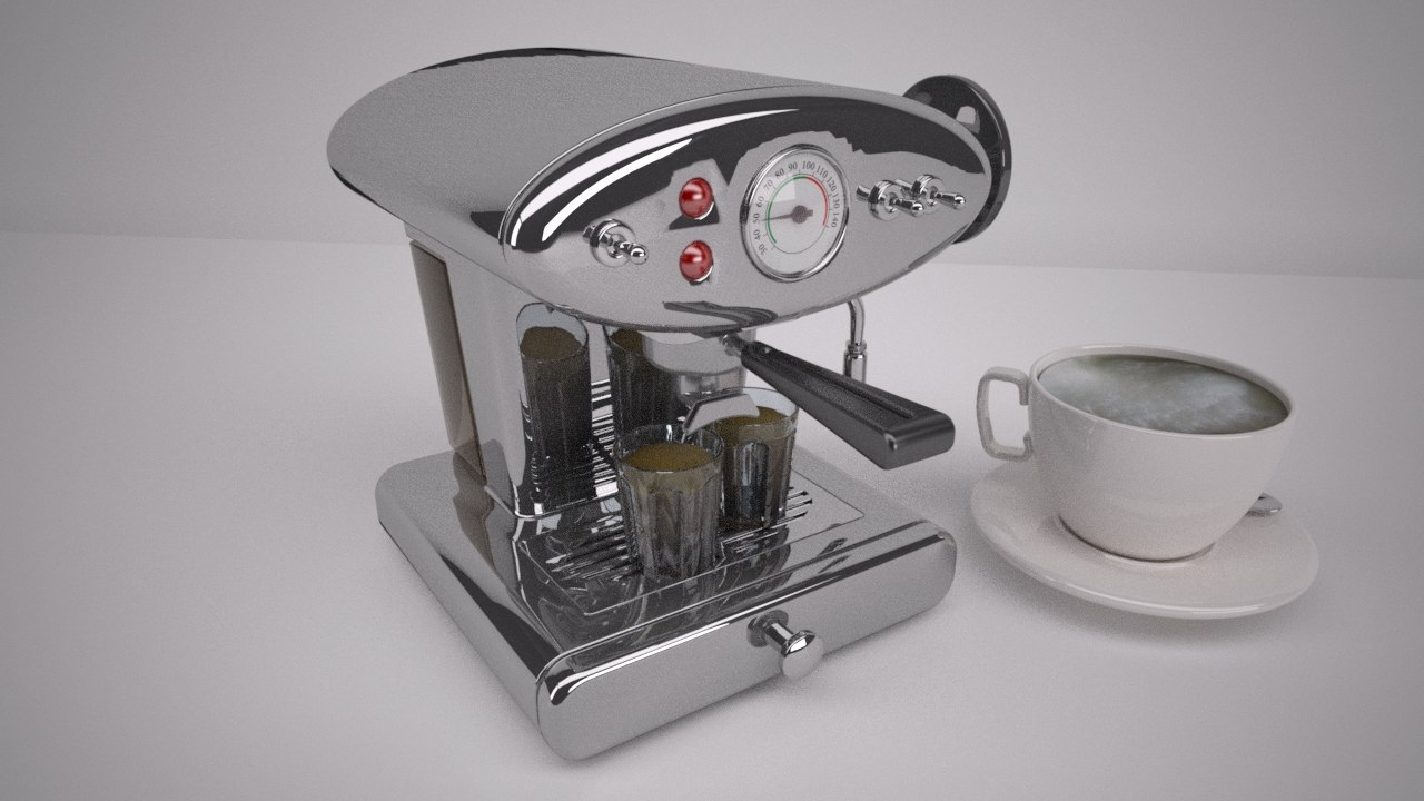 3d coffee machine cappuccino