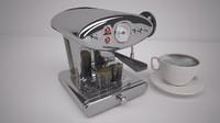 3d coffee machine cappuccino