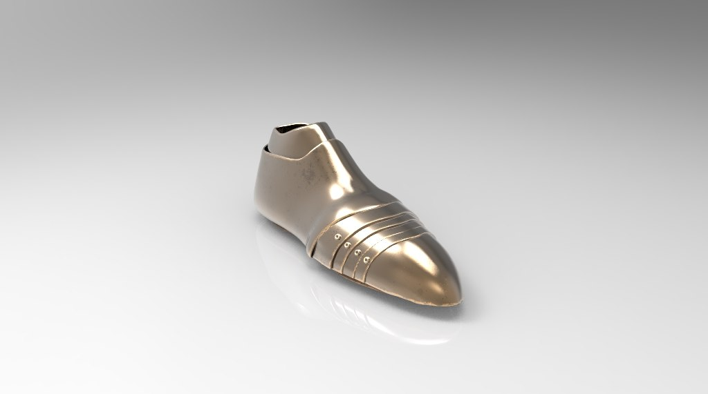 3d boots medieval gold