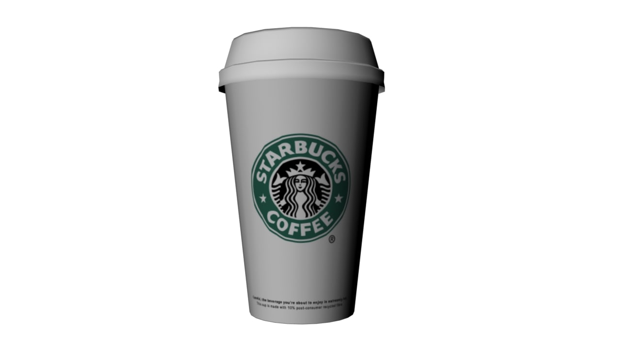 3d starbucks coffee model