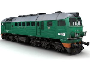 3d model diesel locomotive st44