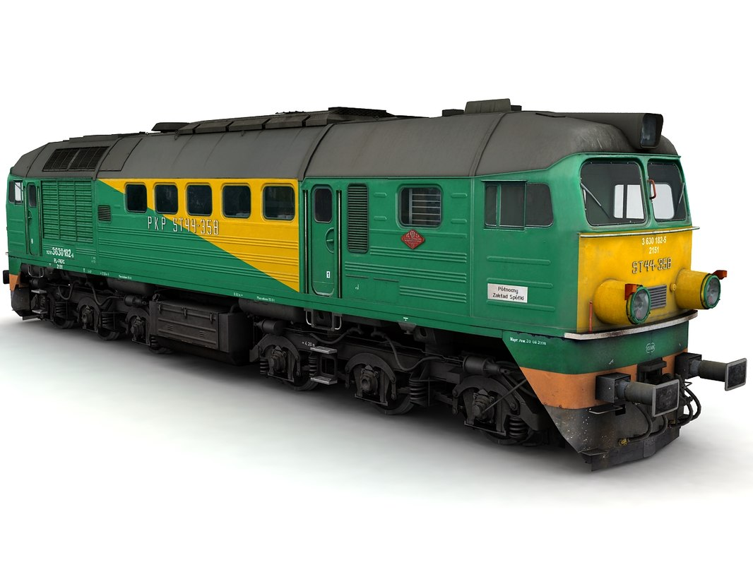 diesel locomotive st44 3d max
