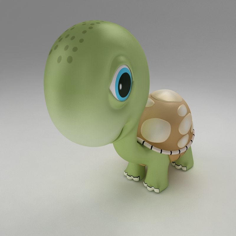 3d model turtle tortoise young