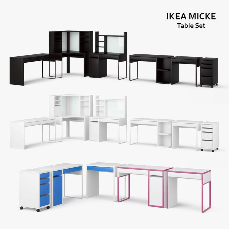 ikea micke table set max