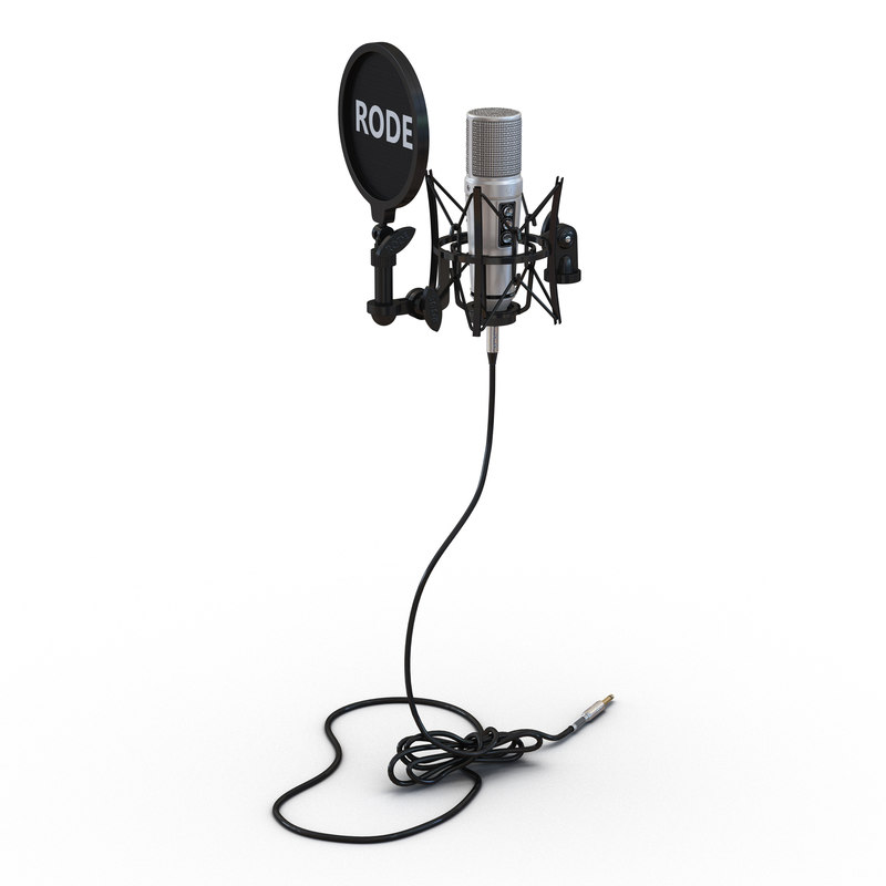 3ds max studio microphone rode
