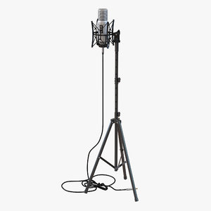 studio microphone rode stand 3d model