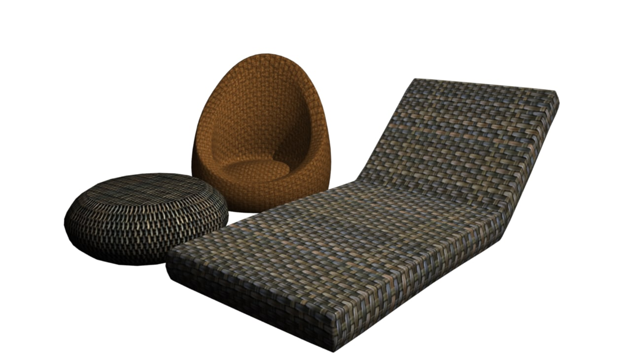 3ds max wicker chair