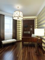 modern home office interior 3d model