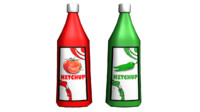 ketchup bottle 3d ma