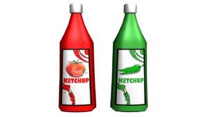 ketchup bottle 3d ma