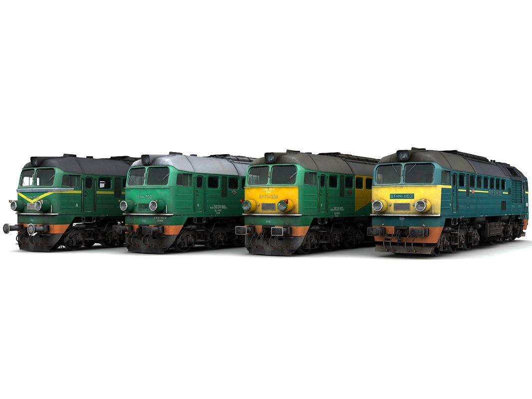 3d model of diesel locomotive st44