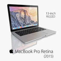 3d model of new macbook pro retina