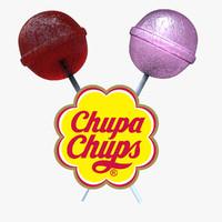 3d model lollipops candy colors