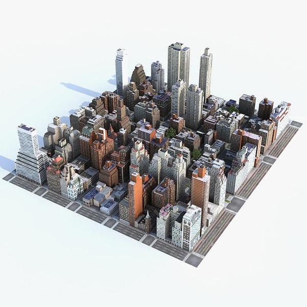 3d model manhattan district 05