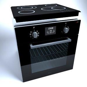 cooktop oven - 3d model