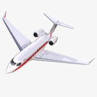 Business Jet Gulfstream G650 Rigged