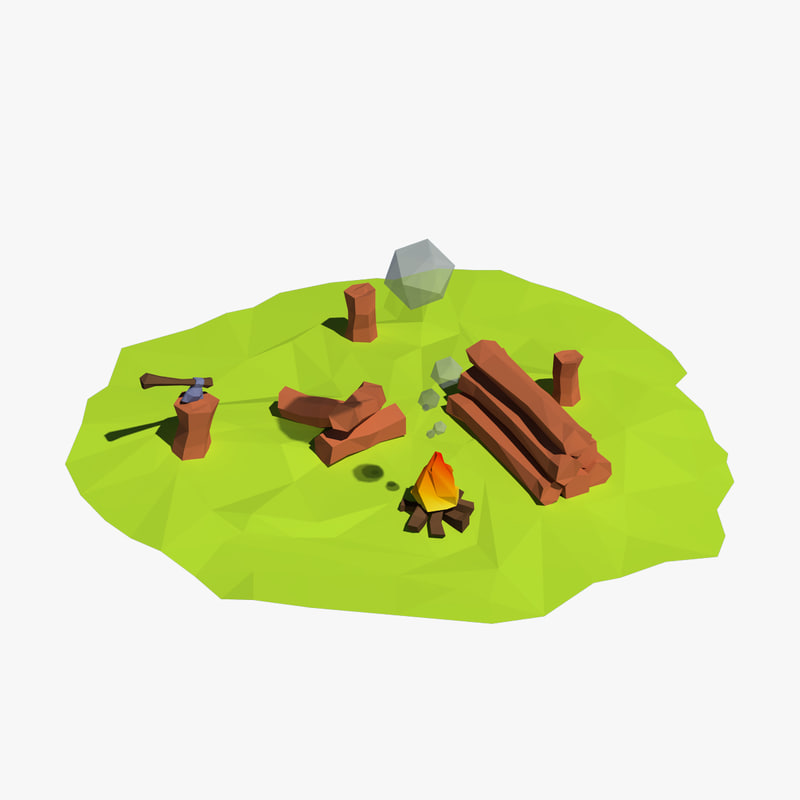 3d logs cartoon