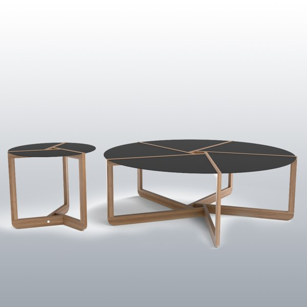3d model blu dot pi coffee tables