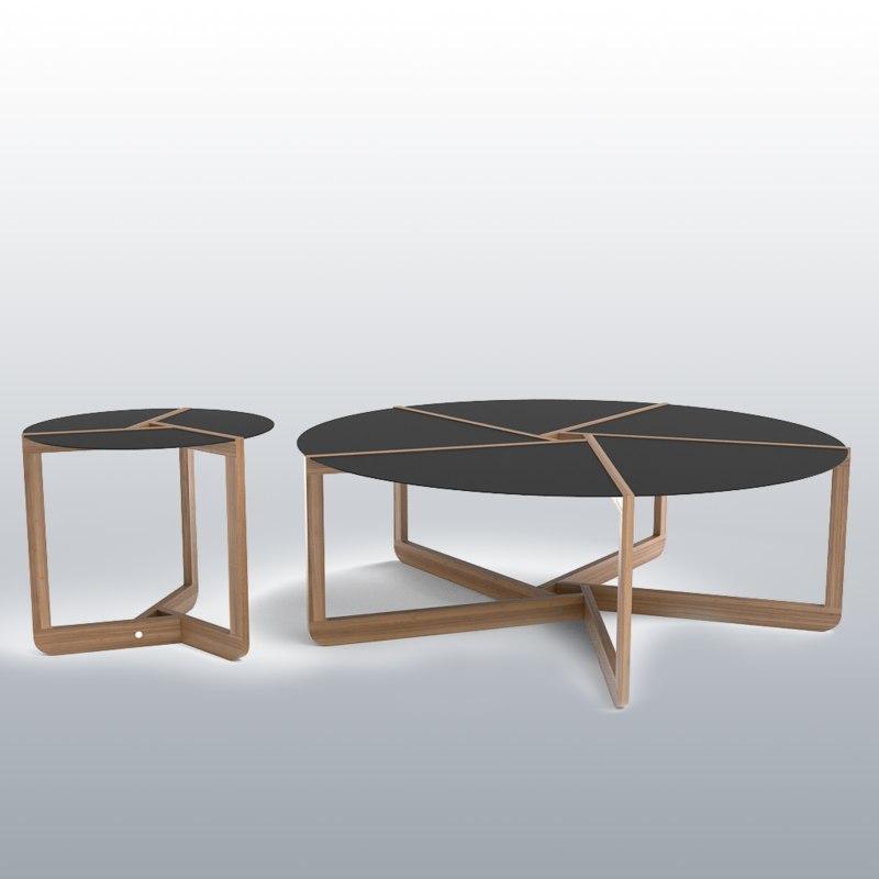 3d model blu dot pi coffee tables