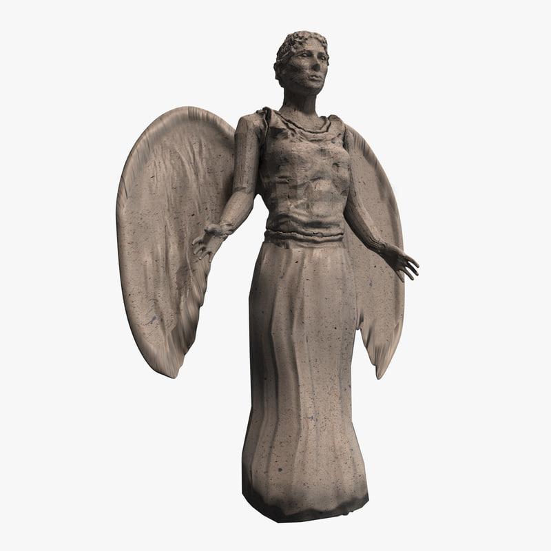 stone angel 3d c4d