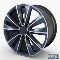 3d model style 247 wheel ferric