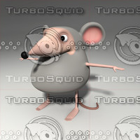 cartoon mouse 3d obj
