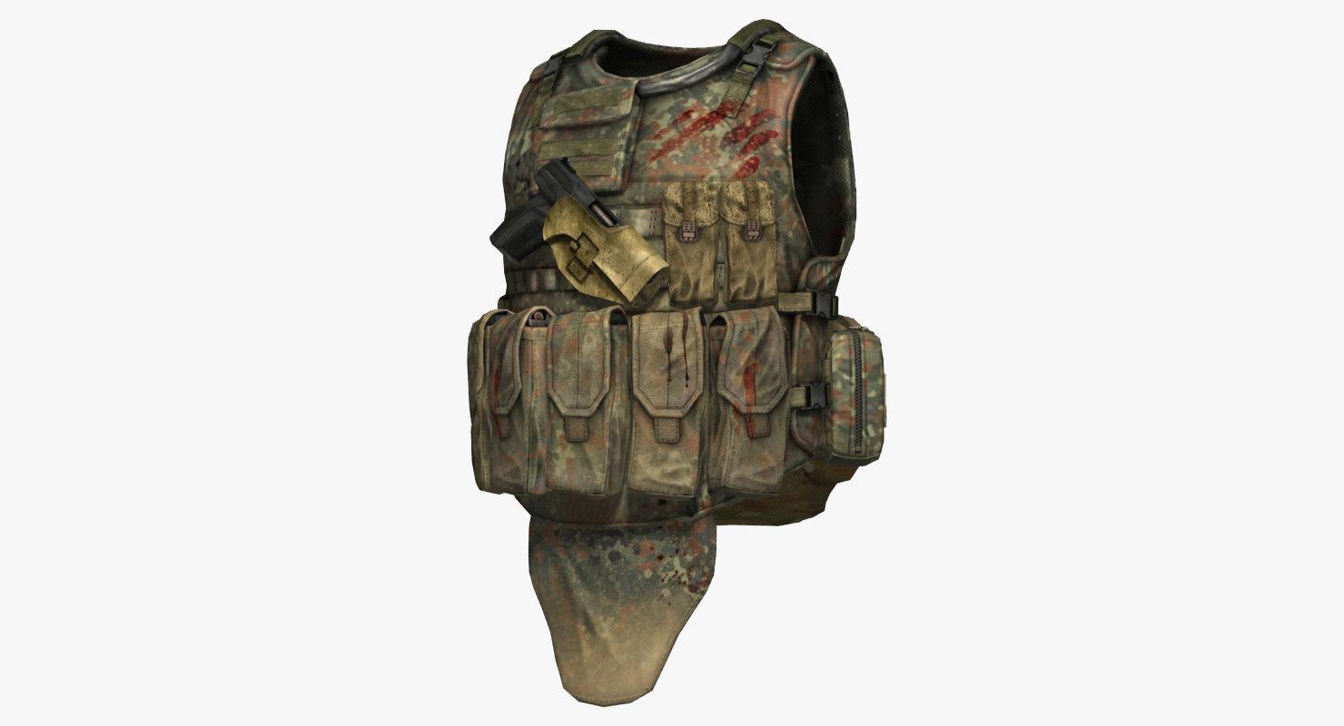 eagle industries tactical vest 3d model