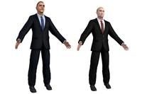 3d model president putin obama