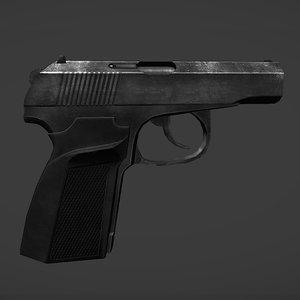 pmm-12 makarov pistol 3d 3ds