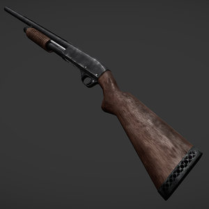 russian shotgun mp-133 3d model