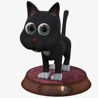 3d cartoon cat rigged model