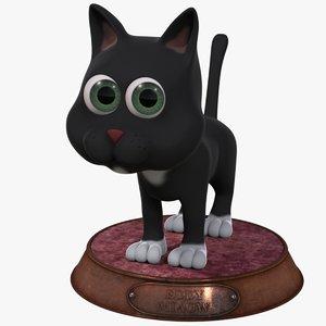 3d cartoon cat rigged model