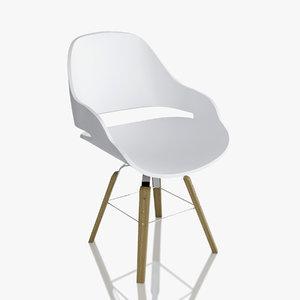 zanotta chair eva 2266 3d obj